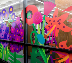 CCBC Window Flower Decals