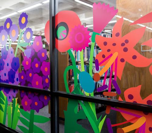 CCBC Window Flower Decals